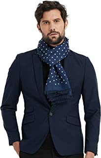 Men's Luxury Silk Scarves for Winter, Twill Facing with Brushed Lining, Double Layer, 100% Mulberry Silk