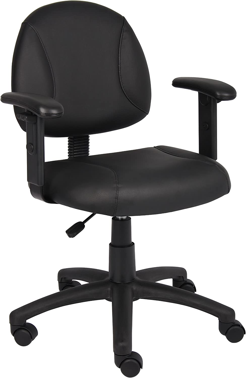 Boss Black Posture Chair W  Adjustable Arms