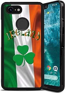 Google Pixel 3 XL Flag Ireland Case, Tire Tread Texture Anti-Drop Anti-Skidding PC+TPU Case