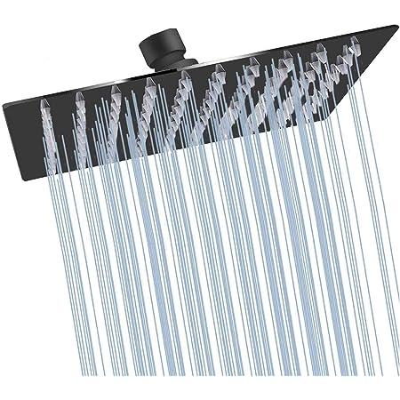 High Pressure Black Shower Head YBlucklly 8 inch Round Rain Shower Head Luxury