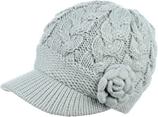 cfb9f6a638666f Be Your Own Style BYOS Womens Winter Chic Cable Warm Fleece Lined Crochet Knit  Hat W