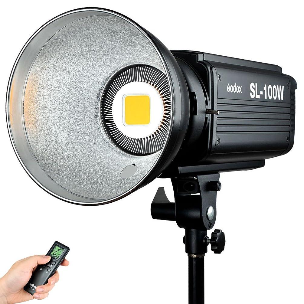 Godox SL-100W 100WS Studio Continuous Video Light Lamp Bowens Mount w/ Remote Control For Camera DV Camcorder 5600K White Version