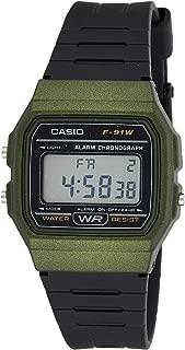 Casio Grey Dial Resin Band Watch - F-91Wm-3Adf, Digital Display, For Unisex