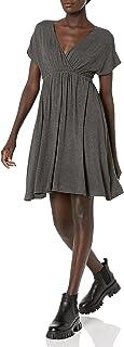 Amazon Essentials Women's Solid Surplice Dress