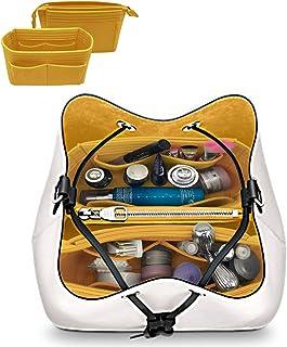LEXSION 2-Pack Felt Handbag Organizer ,Insert purse organizer Fits LV Neonoe Noé Perfectly Yellow M