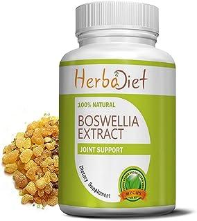 Boswellia Serrata Extract Capsules | 75% Standardized Boswellic Acids High Strength 500mg Vegetarian Capsules | Joint Knee...