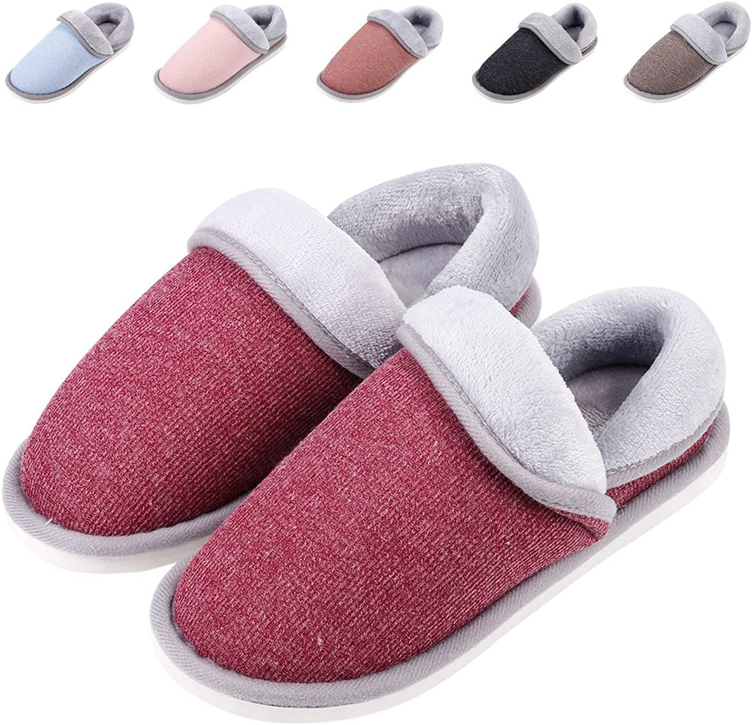 Leisurely Pace Unisex Cozy House Slippers - Fluffy Foldable Boots for Winter - Moccasin Slippers shoes Indoor Outdoor