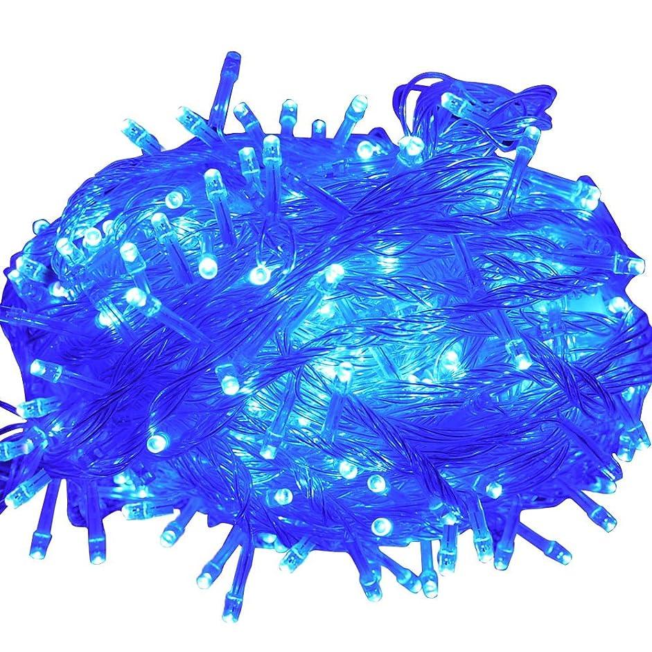 血統連結するウガンダGOODGOODS LED イルミネーションライト 500球 30m 8パターン クリスマス飾り 部屋 LED電飾 屋外 防水 パーティー?イベント装飾 LD55青