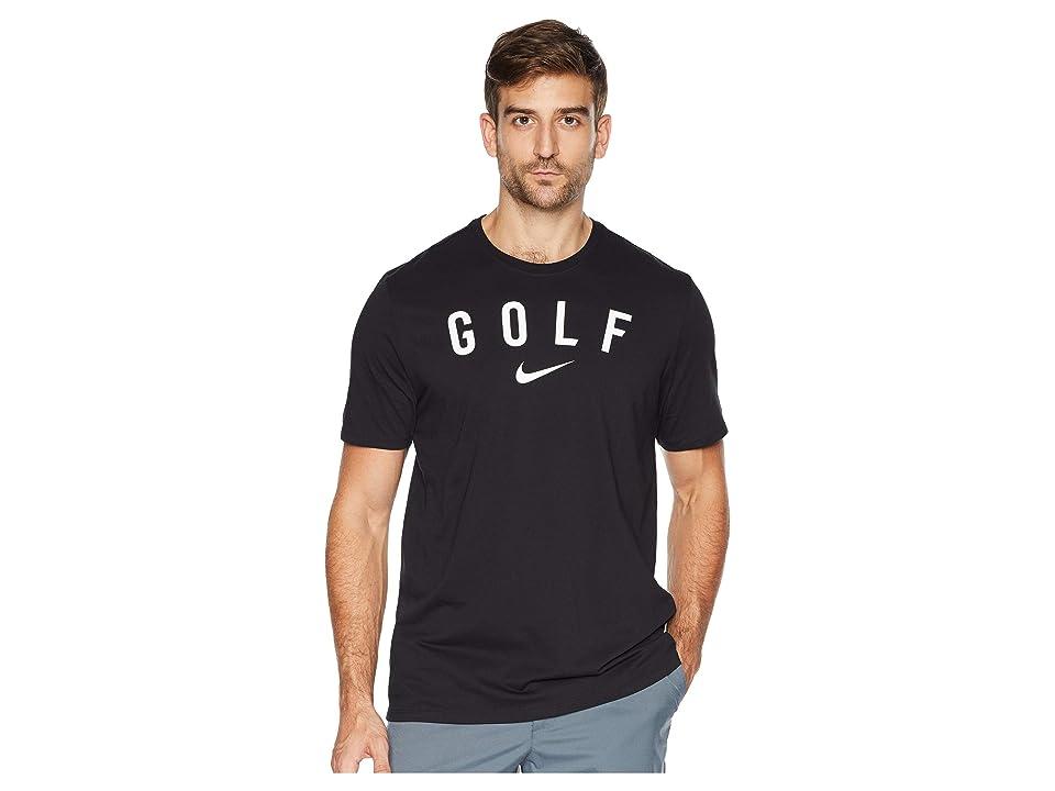 Nike Golf Dry Tee Short Sleeve (Black/White) Men