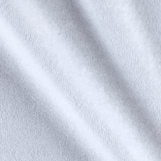 Mike Cannety Textiles White Solid Velour Fabric by The Yard