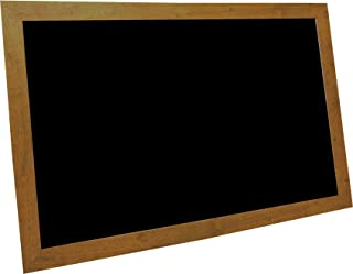 billyBoards 42X60 chalkboard. Rustic pine frame finish. 12 inch self stick chalk tray included. Wood composite writing panel- black. 2 inch wide MDF frame.