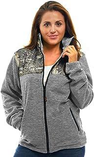 TrailCrest Women`s C-Max Full Zip Polar Fleece Jacket Mossy Oak Camo Patterns