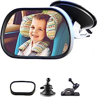 Enfant Voiture Miroir 1Pc Voiture R/églable B/éb/é Enfant Arri/ère Si/ège R/étroviseur Avec Ventouse Noir