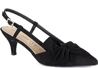 Women Shoes Comfortable Kitten Heels Slingback Dress Pumps