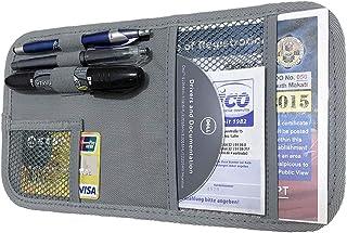 ZugGear Car Sun Visor Organizer, Auto Visor Holder Interior Accessories Pocket Organizer - Car Registration Holder Documen...