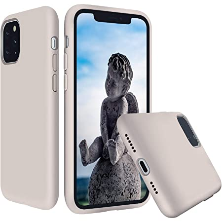 Liquid Silicone iPhone 11 Pro Max Case Silky Touch Full Protective with Microfiber Cloth Lining Cushion Anti-Scratch for iPhone 11 Pro Max 6.5 inch (Stone)