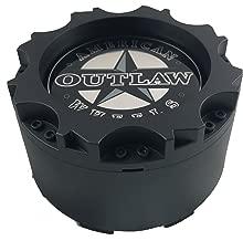 American Outlaw Wheels BC-895 Flat Black Custom Wheel Center Caps (1 CAP) NEW!