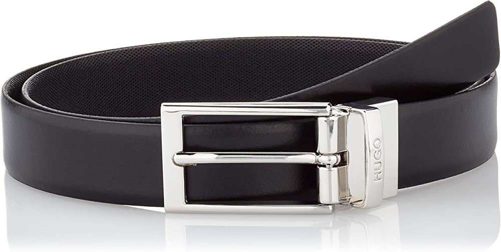 Hugo boss, cintura per  uomo,in vera pelle 50403162