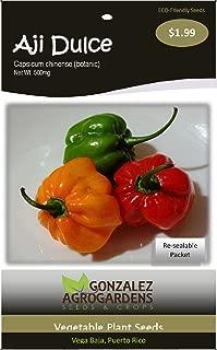 Ajicito, Aji Dulce, Aji Gustoso, Cachucha, Sweet Pepper 100 Seeds by Gonzalez Agrogardens