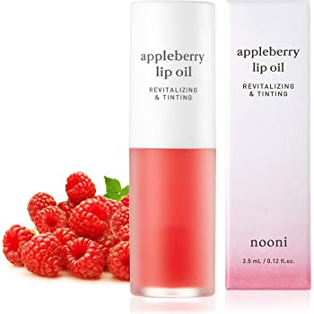 NOONI Appleberry Lip Oil | Korean Lip Oil To Soothe Dry Lips | Skincare, Vegan, Cruelty-free, Paraben-free, Mineral-Oil free