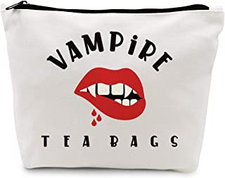 Ihopes Vampire Tea Bags Tampon Travel Bag Zipper Pouch   Funny Cotton Period Bag Cosmetic Bag Toiletry Bag Multifunction A...