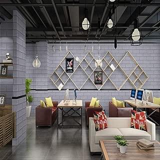 lsaiyy Nostálgico 3D Autoadhesivo Hotel peluquería Tienda de Ropa Impermeable PVC Papel tapiz-60CMX3M