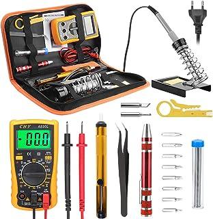 comprar comparacion Eléctrico Soldador Kit, Kriogor Electrónica del kit de soldador Set de Soldador Electrónica de Estaño Temperatura Ajustabl...