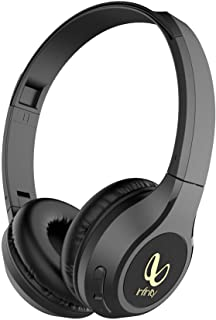 Infinity (JBL) Glide 500 Wireless On-Ear Dual EQ Deep Bass Headphones with 20 Hours Playtime & Mic (Charcoal Black)