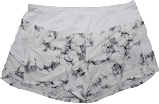 Womens Size X-Large Smart Device Pockets Track Shorts, Marble White