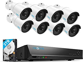 Reolink 16CH 5MP PoE Home Security Camera System, 8 x Wired 5MP Outdoor PoE IP Cameras, 5MP 16 Channel NVR Security System...
