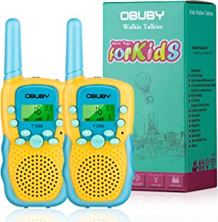 Obuby Walkie Talkies for Kids, 22 Channels 2 Way Radio Kid Toy Gift 3 KMs Long Range with Backlit LCD Flashlight Best Gifts Toys