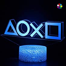 Nisotieb PS Game Light Lcons LED Light/3 Lights Modes/Led Night Light/Game Room Accessories and Playstation Decor Lamp