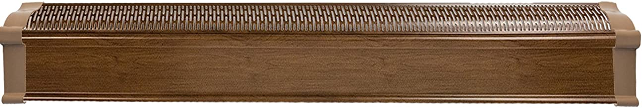 Baseboard Heat, Heater Covers WITH End Caps (Left and Right)   Hot Water Heating Cover Enclosure Kit, Direct Replacement for Slant Fin - Rust Proof/Energy Efficient - Dark Walnut (8 Feet)