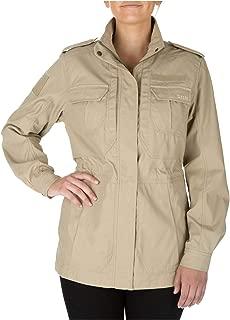 5.11 Tactical Women's Taclite M-65 Waterproof Jacket, UPF 50, Poly-Cotton Fabric, Style 68000