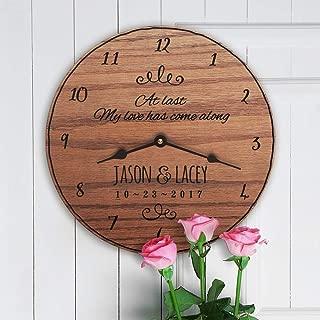12 Inch Wood Clock, at Last My Love Has Come Along at Last Lyrics First Dance Lyrics Wedding Song Lyrics Popular First Dance Song Custom Names, Clock Only, Wall Clock