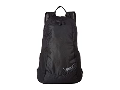 Nike 13 L Run Race Day Backpack (Black/Black/Pure Platinum/Silver) Backpack Bags