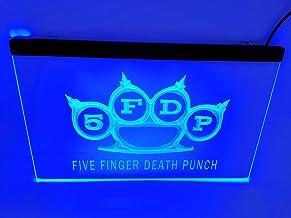 jxledsign Blue 5FDP Five Finger Death Punch Beer Bar Budweiser Led Light Sign