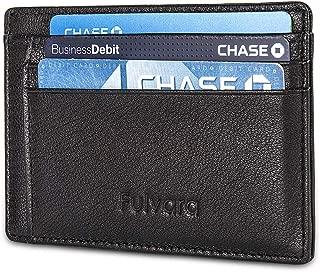 Minimalist Genuine Leather Wallet Slim Front Pocket RFID Card Holder Men & Women