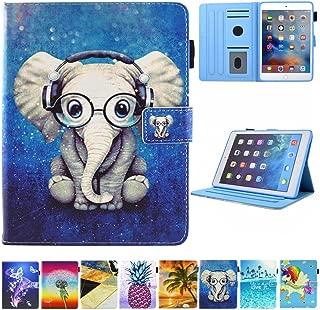 JZCreater Case for iPad Mini 1/2/3/4 - Folio Stand Wallet Case, Auto Sleep/Wake Feature for Apple iPad Mini 123/ iPad Mini 4, Elephant