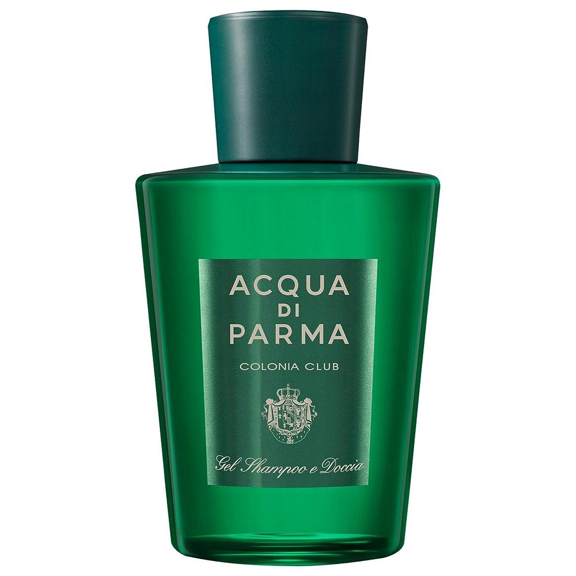 ボタン青ギャロップアクア?ディ?パルマコロニアクラブのシャワージェル200ミリリットル (Acqua di Parma) (x2) - Acqua di Parma Colonia Club Shower Gel 200ml (Pack of 2) [並行輸入品]