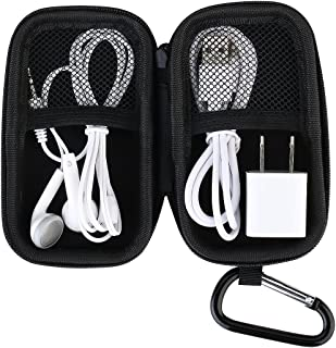 DeeFec Portable Protection Hard Case, MP3 Player Case, Mesh Inner Pocket,Zipper Enclosure, Holder with Metal Carabiner Cli...