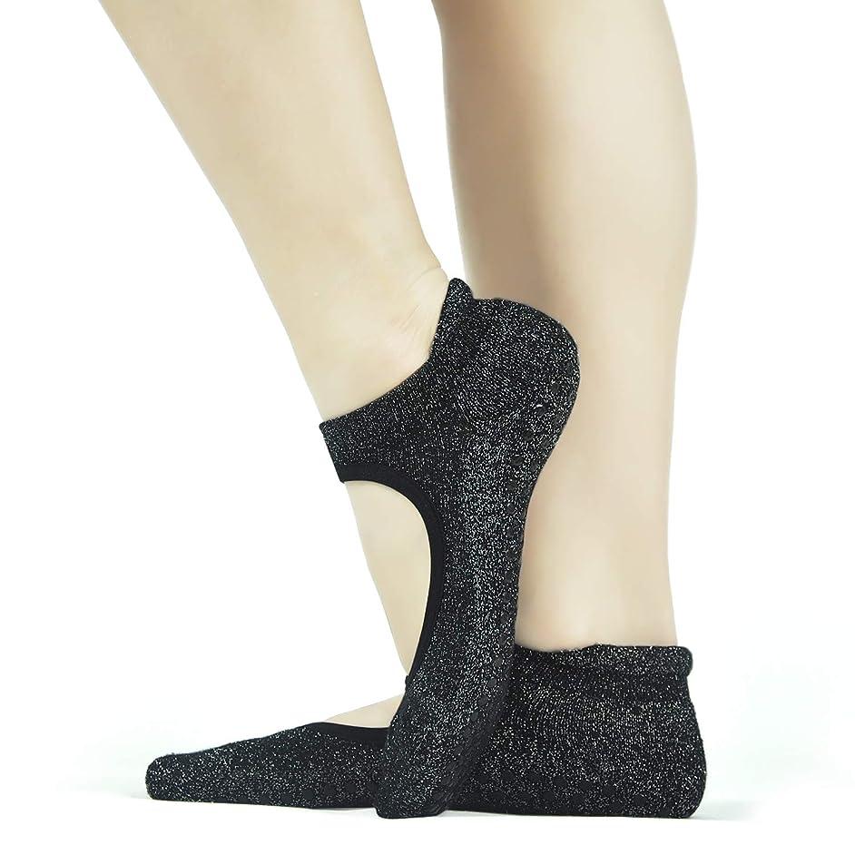 Yoga Anti Skid Grips Socks Ballet Barre Non Slip Socks Pilates Fitness Dance Socks for Women(5-9)