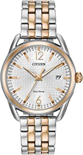 Citizen Eco-Drive Womens Stainless Steel Watch, Multicolor Stainless Steel Band, (Model: FE6086-74A)