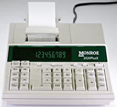 $96 » (1) Monroe 2020PlusX 12-Digit Medium-Duty Color Printing Calculator in Ivory