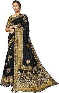 بلوزة ساري من القطن والحرير أحدث موضة للنساء الهندية السوداء مع Pallu الغنية 5764