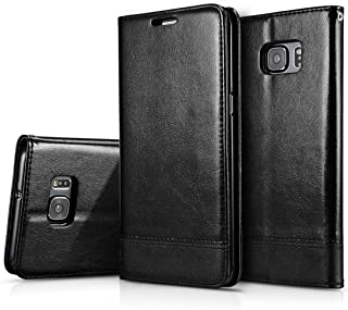Crosspace Galaxy S7 Edge Flip Case, S7 Edge Wallet PU Leather Cases Magnetic Folio Book Stand Cover with Card Slots for Samsung Galaxy S7 Edge 5.5