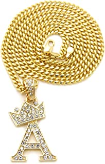 Fashion 21 Unisex Small Pave Crowned Initial Alphabet...