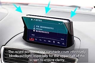 LFOTPP Fit for Mazda CX-3 2016-2019 Vehicle Navigator Sunshade Visor, Mazda Glare Vision Shield, GPS Navigation Sun Hood Anti Reflective,Block Sunlight Block Sun Glare
