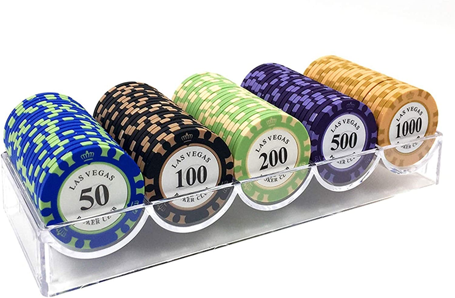 100st Poker Chips Set Met Doos 14g Klei/Ceramic Poker Chips Sets Poker Chips Casino Coins Chips Card Decks Chip Casino Chip Casino (Color : K as pic) D as pic