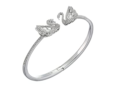 Swarovski Dancing Swan Bangle (CZ White) Bracelet